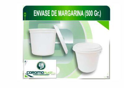 ENVASE C/TAPA MARGARINA 500 GR C