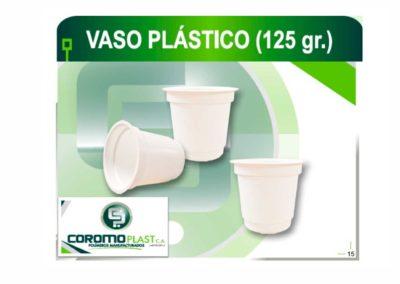 VASO PLASTICO 125GR