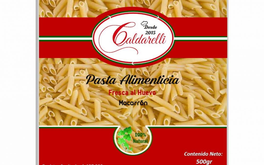Pasta Alimenticia Al Huevo Con Vegetales Tricolor